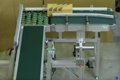 産業用インクジェットプリンター印字用付帯設備:直角搬送コンベア